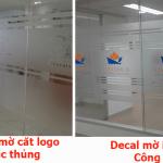 Giấy decal dán kính mờ tại TPHCM và Hà Nội – In cắt logo theo yêu cầu