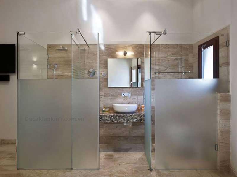 mẫu dán che mờ kính cho nhà tắm
